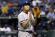 Sep 11, 2013; St. Petersburg, FL, USA; (Editor's Note: Caption Correction) Boston Red Sox relief pitcher Koji Uehara (19) reacts and claps his hands after he pitched the ninth inning against the Tampa Bay Rays  at Tropicana Field. Boston Red Sox defeated the Tampa Bay Rays 7-3. Mandatory Credit: Kim Klement-USA TODAY Sports