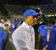 Sep 13, 2013; Boise, ID, USA; Boise State Broncos head coach Chris Petersen at the conclusion of the contest against the Air Force Falcons at Bronco Stadium. Boise State defeated the Air Force 42-20. Mandatory Credit: Brian Losness-USA TODAY Sports