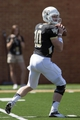 Sep 14, 2013; Winston-Salem, NC, USA; Wake Forest Demon Deacons quarterback Tanner Price (10) looks to pass the ball during the first quarter against the Louisiana Monroe Warhawks at BB&T Field. Mandatory Credit: Jeremy Brevard-USA TODAY Sports
