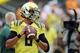 Sep 14, 2013; Eugene, OR, USA; Oregon Ducks quarterback Marcus Mariota (8) before the game against the Tennessee Volunteers at Autzen Stadium. Mandatory Credit: Scott Olmos-USA TODAY Sports