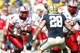 Sep 14, 2013; Pittsburgh, PA, USA; New Mexico Lobos running back Crusoe Gongbay (2) carries the ball against the Pittsburgh Panthers during the third quarter at Heinz Field. The Pittsburgh Panthers won 49-27. Mandatory Credit: Charles LeClaire-USA TODAY Sports