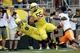 Sep 14, 2013; Eugene, OR, USA; Oregon Ducks quarterback Marcus Mariota (8) runs the ball against the Tennessee Volunteers at Autzen Stadium. Mandatory Credit: Scott Olmos-USA TODAY Sports
