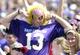 Sep 14, 2013; Greenville, NC, USA; East Carolina Pirates fan during the second half against the Virginia Tech Hokies at Dowdy-Ficklen Stadium.  Virginia Tech won 15-10. Mandatory Credit: Rob Kinnan-USA TODAY Sports