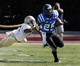 Sep 14, 2013; Durham, NC, USA; Duke Blue Devils running back Jela Duncan (25) avoids the tackle of Georgia Tech Yellow Jackets linebacker Brandon Watts (11) at Wallace Wade Stadium. Mandatory Credit: Mark Dolejs-USA TODAY Sports