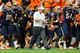 Sep 14, 2013; Syracuse, NY, USA; Syracuse Orange head coach Scott Shafer walks off the field at halftime of the game against the Wagner Seahawks at the Carrier Dome.  Mandatory Credit: Rich Barnes-USA TODAY Sports