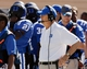 Sep 14, 2013; Durham, NC, USA; Duke Blue Devils head coach David Cutcliffe on the sidelines before the start of their game against the Georgia Tech Yellow Jackets at Wallace Wade Stadium. Mandatory Credit: Mark Dolejs-USA TODAY Sports