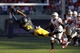 Sep 14, 2013; Berkeley, CA, USA; California Golden Bears wide receiver Kenny Lawler (4) makes a diving catch against the Ohio State Buckeyes in the second quarter at Memorial Stadium. Mandatory Credit: Cary Edmondson-USA TODAY Sports