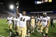 Sep 14, 2013; University Park, PA, USA; Central Florida Knights tight end Justin Tukes (84) celebrate following the completion of the game against the Penn State Nittany Lions at Beaver Stadium. Central Florida defeated Penn State 34-31. Mandatory Credit: Matthew O'Haren-USA TODAY Sports