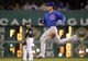 Sep 14, 2013; Pittsburgh, PA, USA; Chicago Cubs first baseman Anthony Rizzo (44) runs to second base after doubling against the Pittsburgh Pirates during the fourth inning at PNC Park. The Pittsburgh Pirates won 2-1. Mandatory Credit: Charles LeClaire-USA TODAY Sports
