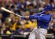 Sep 14, 2013; Pittsburgh, PA, USA; Chicago Cubs first baseman Anthony Rizzo (44) doubles against the Pittsburgh Pirates during the fourth inning at PNC Park. The Pittsburgh Pirates won 2-1. Mandatory Credit: Charles LeClaire-USA TODAY Sports