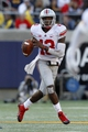 Sep 14, 2013; Berkeley, CA, USA; Ohio State Buckeyes quarterback Kenny Guiton (13) looks to pass the ball against the California Golden Bears in the third quarter at Memorial Stadium. The Buckeyes defeated the Golden Bears 52-34. Mandatory Credit: Cary Edmondson-USA TODAY Sports