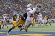 Sep 14, 2013; Berkeley, CA, USA; Ohio State Buckeyes wide receiver Corey Brown (10) catches a touchdown pass against the California Golden Bears in the third quarter at Memorial Stadium. The Buckeyes defeated the Golden Bears 52-34. Mandatory Credit: Cary Edmondson-USA TODAY Sports