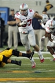Sep 14, 2013; Berkeley, CA, USA; Ohio State Buckeyes defensive lineman Joey Bosa (97) pursues the ball against the California Golden Bears in the third quarter at Memorial Stadium. The Buckeyes defeated the Golden Bears 52-34. Mandatory Credit: Cary Edmondson-USA TODAY Sports