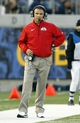Sep 14, 2013; Berkeley, CA, USA; Ohio State Buckeyes Urban Meyer stands on the sideline during action against the California Golden Bears in the fourth quarter at Memorial Stadium. The Buckeyes defeated the Golden Bears 52-34. Mandatory Credit: Cary Edmondson-USA TODAY Sports