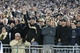 Sep 14, 2013; University Park, PA, USA; Central Florida Knights fans cheer during the fourth quarter against the Penn State Nittany Lions at Beaver Stadium. Central Florida defeated Penn State 34-31. Mandatory Credit: Matthew O'Haren-USA TODAY Sports