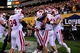 Sep 14, 2013; Tempe, AZ, USA; Wisconsin Badgers tight end Jacob Pedersen (48) celebrates with teammates after scoring a two yard touchdown during the first half against the Arizona State Sun Devils at Sun Devil Stadium. Mandatory Credit: Matt Kartozian-USA TODAY Sports