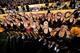 Sep 14, 2013; Tempe, AZ, USA; Arizona State Sun Devils cheerleaders celebrate after beating the Wisconsin Badgers 32-30 at Sun Devil Stadium. Mandatory Credit: Matt Kartozian-USA TODAY Sports