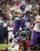Sep 15, 2013; Chicago, IL, USA; Minnesota Vikings running back Adrian Peterson (28) during the fourth quarter against the Chicago Bears at Soldier Field. The Bears won 31-30. Mandatory Credit: Jerry Lai-USA TODAY Sports