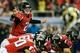 Sep 15, 2013; Atlanta, GA, USA; Atlanta Falcons quarterback Matt Ryan (2) calls an audible in the second half against the St. Louis Rams at the Georgia Dome. The Falcons won 31-24. Mandatory Credit: Daniel Shirey-USA TODAY Sports