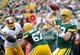 Sep 15, 2013; Green Bay, WI, USA;   Green Bay Packers quarterback Aaron Rodgers grets a pass away in the fourth quarter during the game against the Washington Redskins at Lambeau Field. Mandatory Credit: Benny Sieu-USA TODAY Sports