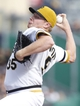 Sep 15, 2013; Pittsburgh, PA, USA; Pittsburgh Pirates relief pitcher Mark Melancon (35) pitches against the Chicago Cubs during the ninth inning at PNC Park. The Pittsburgh Pirates won 3-2. Mandatory Credit: Charles LeClaire-USA TODAY Sports