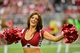 Sep 15, 2013; Phoenix, AZ, USA; Arizona Cardinals cheerleader performs during the second half against the Detroit Lions at University of Phoenix Stadium. Mandatory Credit: Matt Kartozian-USA TODAY Sports