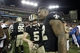 Sep 15, 2013; Tampa, FL, USA; New Orleans Saints kicker Garrett Hartley (5) is congratulated by teammates after he kicked the game winning field goal as time expires during the fourth quarter against the Tampa Bay Buccaneers at Raymond James Stadium. The Saints won 16-14. Mandatory Credit: Kim Klement-USA TODAY Sports