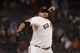 September 5, 2013; San Francisco, CA, USA; San Francisco Giants relief pitcher Jose Mijares (50) delivers a pitch during the ninth inning against the Arizona Diamondbacks at AT&T Park. The Diamondbacks defeated the Giants 4-2. Mandatory Credit: Kyle Terada-USA TODAY Sports