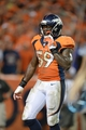 Sep 5, 2013; Denver, CO, USA; Denver Broncos linebacker Danny Trevathan (59) during the game against the Baltimore Ravens at Sports Authority Field at Mile High. Mandatory Credit: Ron Chenoy-USA TODAY Sports