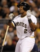 Sep 17, 2013; Pittsburgh, PA, USA; Pittsburgh Pirates right fielder Marlon Byrd (2) reacts after striking out to end the inning against  the San Diego Padres during the third inning at PNC Park. The San Diego Padres won 5-2. Mandatory Credit: Charles LeClaire-USA TODAY Sports