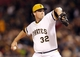 Sep 17, 2013; Pittsburgh, PA, USA; Pittsburgh Pirates relief pitcher Vin Mazzaro (32) pitches against the San Diego Padres during the sixth inning at PNC Park. The San Diego Padres won 5-2. Mandatory Credit: Charles LeClaire-USA TODAY Sports