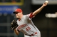 Sep 17, 2013; Houston, TX, USA; Cincinnati Reds relief pitcher Sean Marshall (45) pitches against the Houston Astros during the ninth inning at Minute Maid Park. The Reds won 10-0. Mandatory Credit: Thomas Campbell-USA TODAY Sports