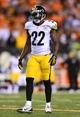 Sep 16, 2013; Cincinnati, OH, USA; Pittsburgh Steelers cornerback William Gay (22) against the Cincinnati Bengals at Paul Brown Stadium. Mandatory Credit: Andrew Weber-USA TODAY Sports