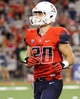Sep 14, 2013; Tucson, AZ, USA; Arizona Wildcats receiver Trevor Ermisch (20) in between plays during the fourth quarter against the Texas-San Antonio Roadrunners at Arizona Stadium. The Wildcats defeated the Roadrunners 38-13. Mandatory Credit: Casey Sapio-USA TODAY Sports