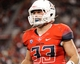 Sep 14, 2013; Tucson, AZ, USA; Arizona Wildcats linebacker Jake Fischer (33) in between plays during the fourth quarter against the Texas-San Antonio Roadrunners at Arizona Stadium. The Wildcats defeated the Roadrunners 38-13. Mandatory Credit: Casey Sapio-USA TODAY Sports