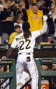 Sep 18, 2013; Pittsburgh, PA, USA; Pittsburgh Pirates center fielder Andrew McCutchen (22) takes a curtain call after hitting a two run home run against the San Diego Padres during the seventh inning at PNC Park. The San Diego Padres won 3-2. Mandatory Credit: Charles LeClaire-USA TODAY Sports