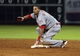 Sep 18, 2013; Houston, TX, USA; Cincinnati Reds center fielder Billy Hamilton (6) slides safely into second base during the ninth inning against the Houston Astros at Minute Maid Park. Mandatory Credit: Troy Taormina-USA TODAY Sports
