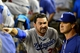 Sep 18, 2013; Phoenix, AZ, USA; Los Angeles Dodgers first baseman Adrian Gonzalez (23) talks with manager Don Mattingly (8) after being ejected from the game in the sixth inning against the Arizona Diamondbacks at Chase Field. Mandatory Credit: Matt Kartozian-USA TODAY Sports