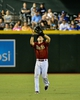 Sep 18, 2013; Phoenix, AZ, USA; Arizona Diamondbacks shortstop Chris Owings (16) catches a fly ball during the fifth inning against the Los Angeles Dodgers at Chase Field. Mandatory Credit: Matt Kartozian-USA TODAY Sports