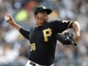 Sep 19, 2013; Pittsburgh, PA, USA; Pittsburgh Pirates relief pitcher Stolmy Pimentel (38) pitches against the San Diego Padres during the ninth inning at PNC Park. The Pittsburgh Pirates won 10-1. Mandatory Credit: Charles LeClaire-USA TODAY Sports