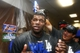 Sep 19, 2013; Phoenix, AZ, USA; Los Angeles Dodgers right fielder Yasiel Puig (66) celebrates in the clubhouse after defeating the Arizona Diamondbacks 7-6 to clinch the NL West title at Chase Field. Mandatory Credit: Rob Schumacher/The Arizona Republic-USA TODAY Sports