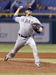 Sep 19, 2013; St. Petersburg, FL, USA; Texas Rangers relief pitcher Joe Nathan (36) throws a pitch during the ninth inning against the Tampa Bay Rays at Tropicana Field. Texas Rangers defeated the Tampa Bay Rays 8-2. Mandatory Credit: Kim Klement-USA TODAY Sports