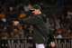 September 19, 2013; Oakland, CA, USA; Oakland Athletics manager Bob Melvin (6) signals for a pitching change against the Minnesota Twins during the sixth inning at O.co Coliseum. Mandatory Credit: Kyle Terada-USA TODAY Sports