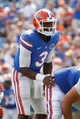 Aug 31, 2013; Gainesville, FL, USA; Florida Gators quarterback Tyler Murphy (3) against the Toledo Rockets during the second half at Ben Hill Griffin Stadium. Florida Gators defeated the Toledo Rockets 24-6. Mandatory Credit: Kim Klement-USA TODAY Sports