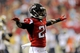 Sep 15, 2013; Atlanta, GA, USA; Atlanta Falcons cornerback Desmond Trufant (21) reacts to a play against the St. Louis Rams during the game at Georgia Dome. The Falcons defeated the Rams 31-24. Mandatory Credit: Dale Zanine-USA TODAY Sports