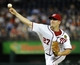 Sep 20, 2013; Washington, DC, USA; Washington Nationals starting pitcher Jordan Zimmermann (27) throws during the second inning against the Miami Marlins at Nationals Park. Mandatory Credit: Brad Mills-USA TODAY Sports