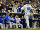 Sep 20, 2013; San Diego, CA, USA; Los Angeles Dodgers right fielder Yasiel Puig (66) after striking out with the go ahead runs on base during the ninth inning against the San Diego Padres at Petco Park. The Padres won 2-0. Mandatory Credit: Christopher Hanewinckel-USA TODAY Sports