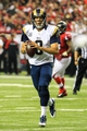 Sep 15, 2013; Atlanta, GA, USA; St. Louis Rams quarterback Sam Bradford (8) rolls out on a play in the game against the Atlanta Falcons at the Georgia Dome. The Falcons won 31-24. Mandatory Credit: Daniel Shirey-USA TODAY Sports