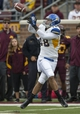 Sep 21, 2013; Minneapolis, MN, USA; San Jose State Spartans tight end Billy Freeman (18) catches a pass in the first quarter against the Minnesota Golden Gophers at TCF Bank Stadium. Mandatory Credit: Jesse Johnson-USA TODAY Sports