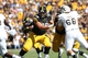 Sep 21, 2013; Iowa City, IA, USA; USA Iowa Hawkeyes guard Andrew Donnal (78) blocks against the Western Michigan Broncos during the first quarter at Kinnick Stadium. Mandatory Credit: Reese Strickland-USA TODAY Sports